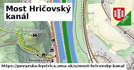Most Hričovský kanál, Považská Bystrica