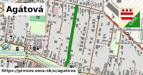 ilustrácia k Agátová, Prešov - 262m