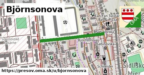 ilustračný obrázok k Björnsonova, Prešov