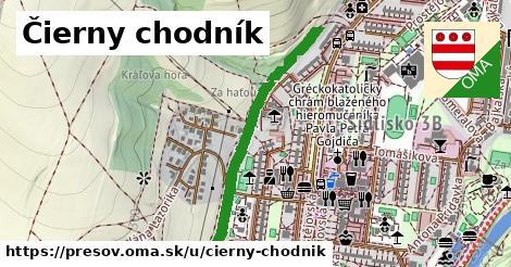 ilustrácia k čierny chodník, Prešov - 645m