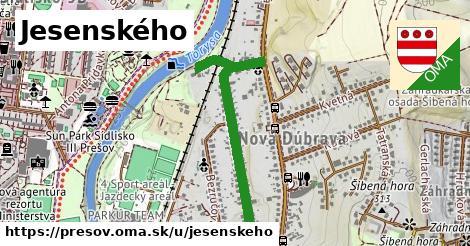 ilustračný obrázok k Jesenského, Prešov