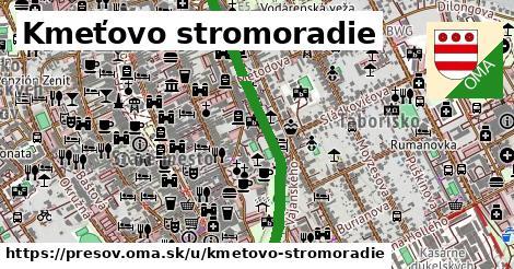 ilustračný obrázok k Kmeťovo stromoradie, Prešov