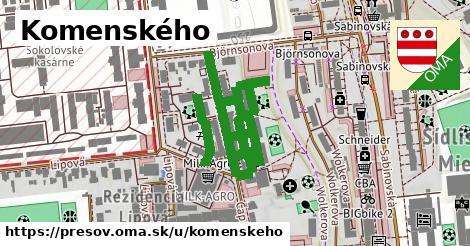 ilustrácia k Komenského, Prešov - 201m