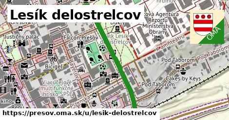 ilustračný obrázok k Lesík delostrelcov, Prešov
