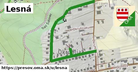 ilustrácia k Lesná, Prešov - 424m