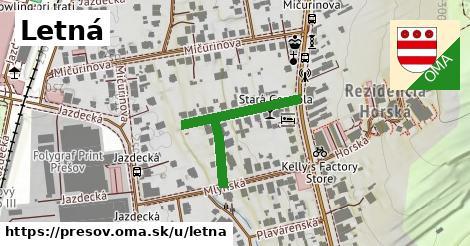 ilustračný obrázok k Letná, Prešov