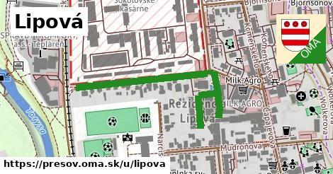 ilustrácia k Lipová, Prešov - 301m