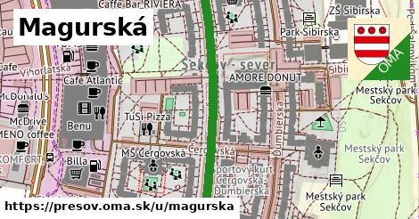 ilustrácia k Magurská, Prešov - 418m