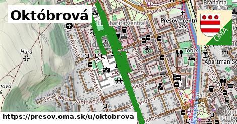 ilustrácia k Októbrová, Prešov - 598m