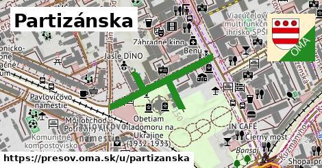 ilustrácia k Partizánska, Prešov - 263m
