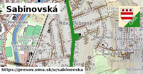 ilustračný obrázok k Sabinovská, Prešov
