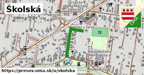 ilustračný obrázok k Školská, Prešov