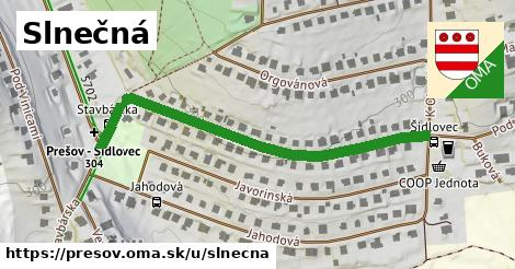ilustrácia k Slnečná, Prešov - 531m