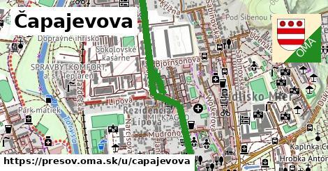ilustrácia k Čapajevova, Prešov - 1,11km