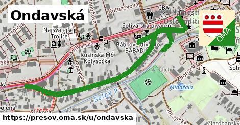 ilustrácia k Ondavská, Prešov - 594m