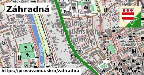 ilustrácia k Záhradná, Prešov - 554m