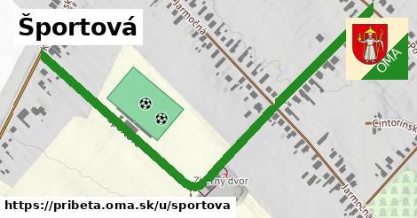 ilustrácia k Športová, Pribeta - 0,83km