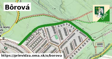 ilustrácia k Bôrová, Prievidza - 588m