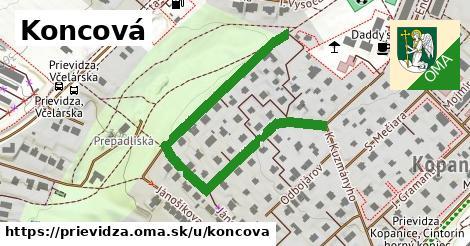 ilustrácia k Koncová, Prievidza - 587m