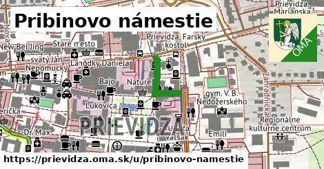 ilustrácia k Pribinovo námestie, Prievidza - 157m