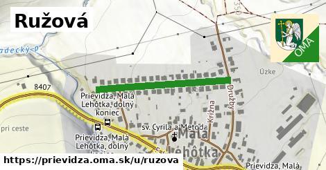 ilustrácia k Ružová, Prievidza - 306m