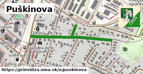 ilustrácia k Puškinova, Prievidza - 493m