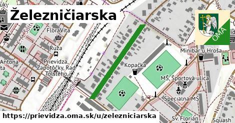 ilustrácia k Železničiarska, Prievidza - 285m