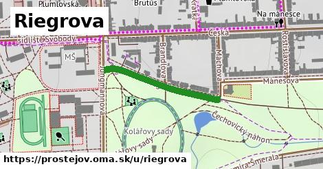 ilustrácia k Riegrova, Prostějov - 274m