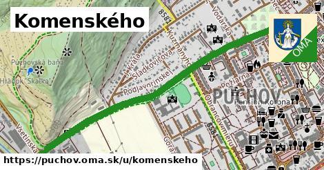 ilustračný obrázok k Komenského, Púchov