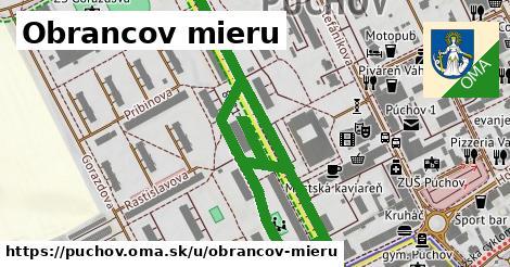 ilustrácia k Obrancov Mieru, Púchov - 1,08km