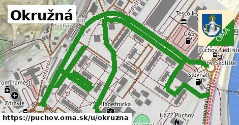 ilustrácia k Okružná, Púchov - 1,30km