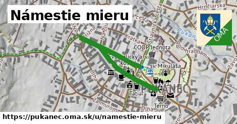 ilustrácia k Námestie mieru, Pukanec - 458m