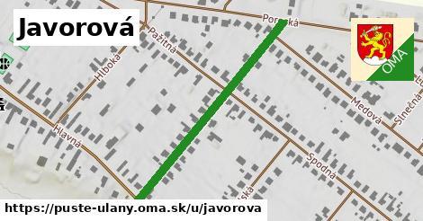 ilustrácia k Javorová, Pusté Úľany - 600m