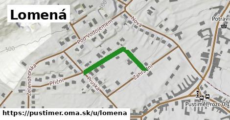 ilustrácia k Lomená, Pustiměř - 221m