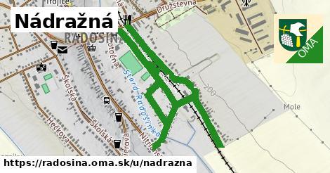 ilustrácia k Nádražná, Radošina - 1,73km