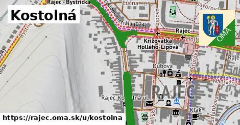 ilustrácia k Kostolná, Rajec - 621m