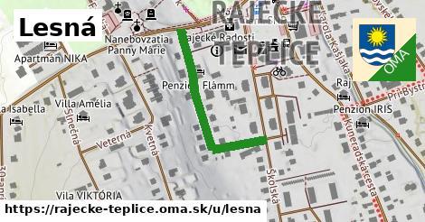 ilustrácia k Lesná, Rajecké Teplice - 311m