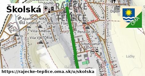 ilustrácia k Školská, Rajecké Teplice - 640m