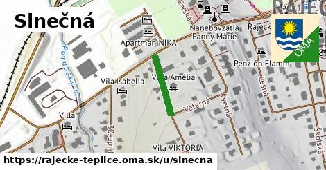 ilustrácia k Slnečná, Rajecké Teplice - 275m