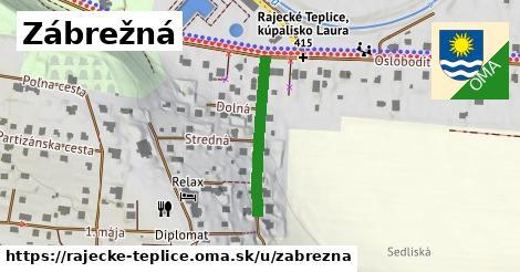 ilustrácia k Zábrežná, Rajecké Teplice - 229m