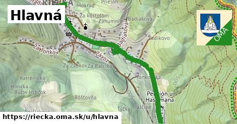 ilustrácia k Hlavná, Riečka - 1,37km