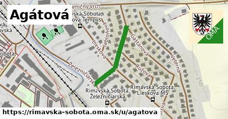 ilustrácia k Agátová, Rimavská Sobota - 239m