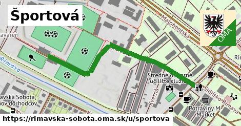 ilustrácia k Športová, Rimavská Sobota - 592m