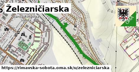 ilustrácia k Železničiarska, Rimavská Sobota - 1,10km