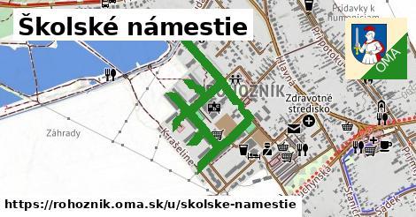 ilustrácia k Školské námestie, Rohožník - 1,30km