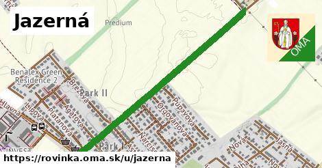 ilustrácia k Jazerná, Rovinka - 1,04km