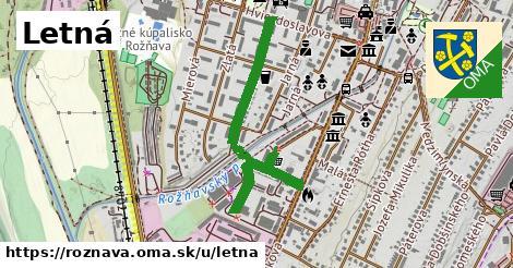 ilustrácia k Letná, Rožňava - 1,01km