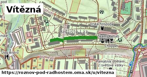 ilustrácia k Vítězná, Rožnov pod Radhoštěm - 236m