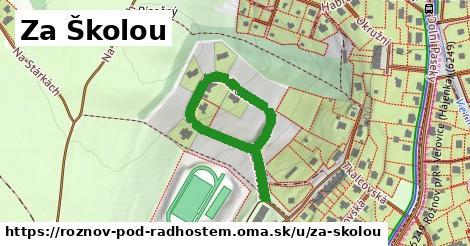 ilustrácia k Za Školou, Rožnov pod Radhoštěm - 447m