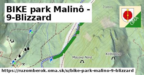 ilustrácia k BIKE park Malinô - 9-Blizzard, Ružomberok - 2,0km